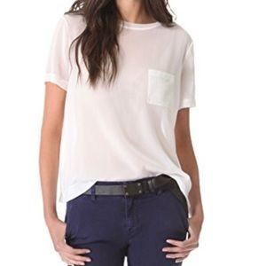 VINCE silk blend t-shirt | S white